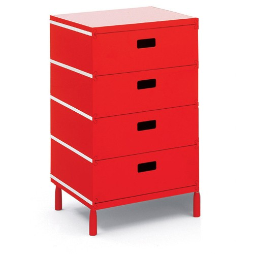 caisson de bureau rouge on