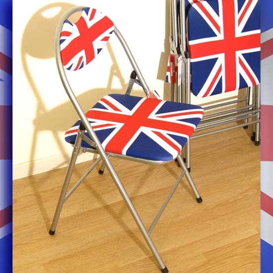 chaise de bureau union jack. Black Bedroom Furniture Sets. Home Design Ideas