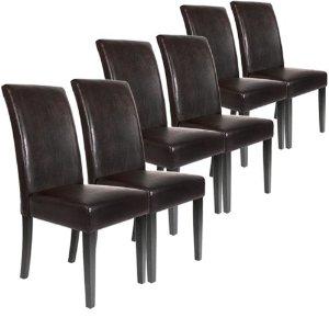 Chaise de salle a manger en cuir noir for Chaise de salle a manger en cuir