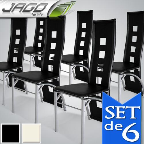 Chaise salle a manger noir et blanc for Modele chaise salle a manger