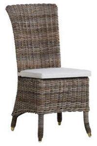 Galette de chaise avec un gros noeud - Chaise blanc d ivoire ...
