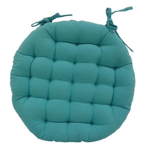 Galette de chaise turquoise - Modele galette de chaise ...