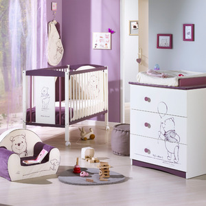 lit bebe winnie l 39 ourson pas cher. Black Bedroom Furniture Sets. Home Design Ideas