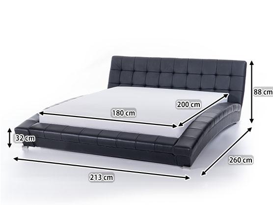lit deux personnes taille standard. Black Bedroom Furniture Sets. Home Design Ideas