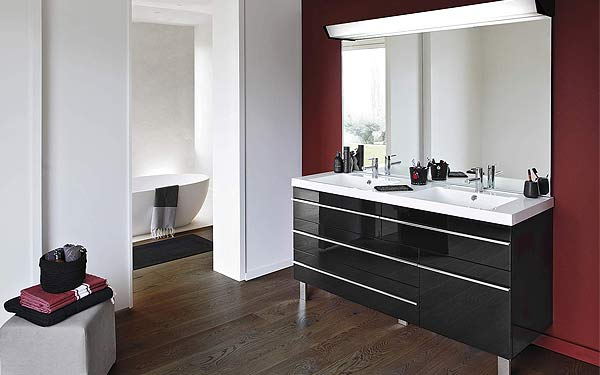 meuble 2 vasques salle de bain design. Black Bedroom Furniture Sets. Home Design Ideas