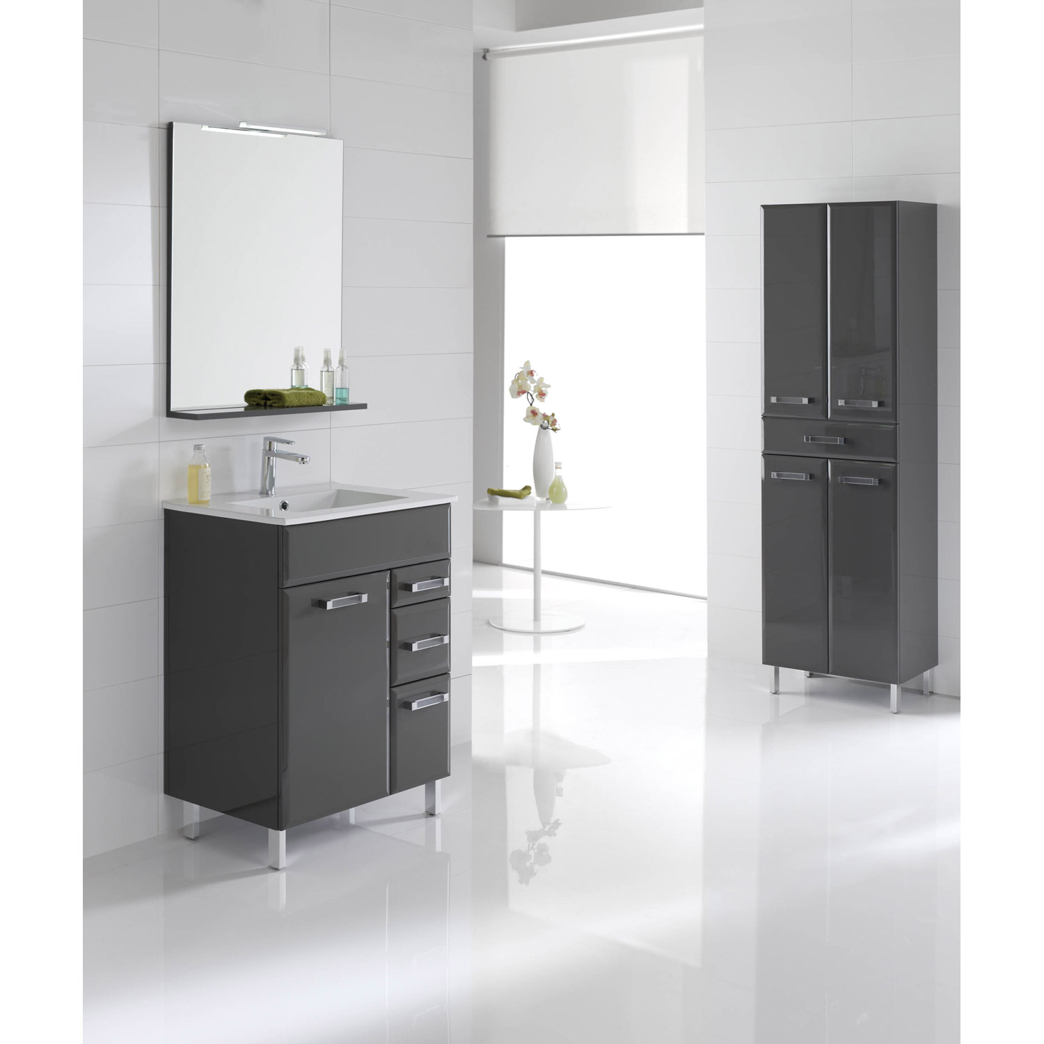 photo meuble bas salle de bain castorama. Black Bedroom Furniture Sets. Home Design Ideas