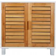 meuble salle de bain bambou gifi