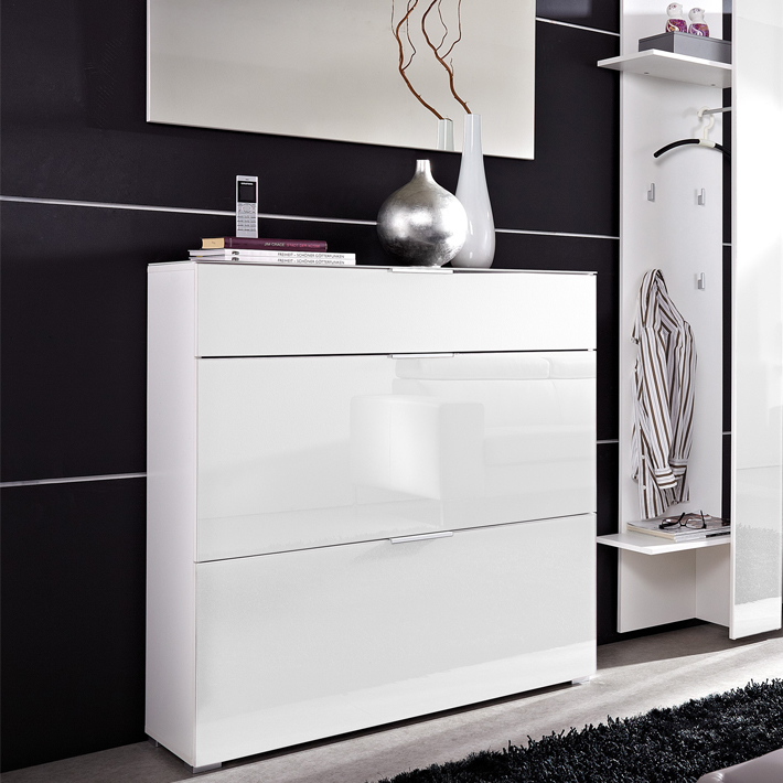 meuble chaussure noir et blanc. Black Bedroom Furniture Sets. Home Design Ideas
