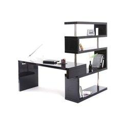 meuble de bureau noir laque
