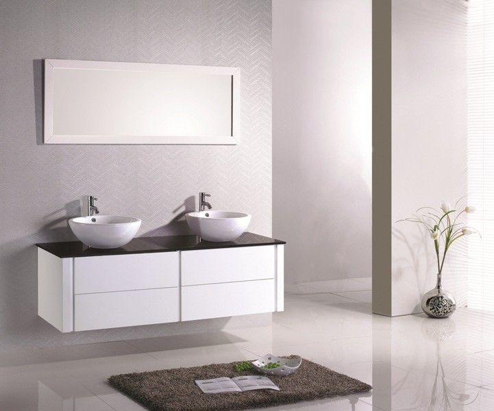 Meuble salle de bain design pas cher for Meuble salle de bain laque pas cher