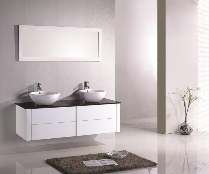 mobilier maison meuble salle de bain design pas cher - Modele Salle De Bain Avec Meubles Blanc