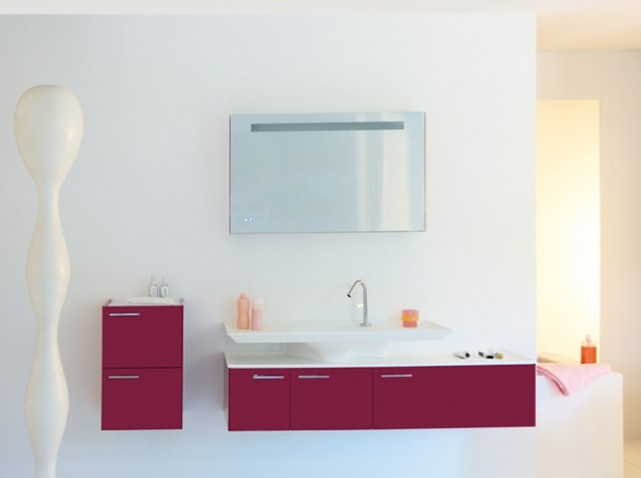Meuble salle de bain design pas cher for Meuble salle de bain mural pas cher