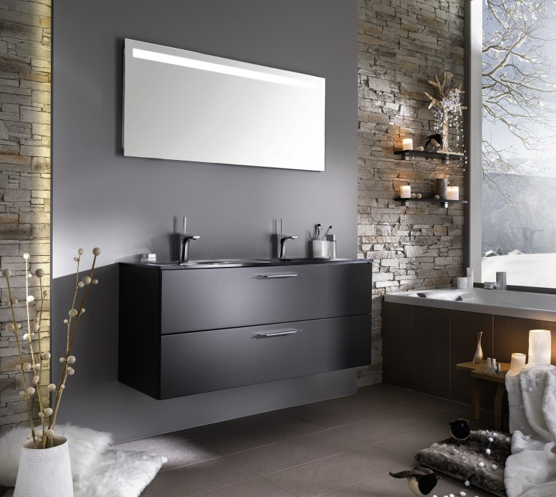 salle de bain contemporaine grise solutions pour la d coration int rieure de votre maison. Black Bedroom Furniture Sets. Home Design Ideas