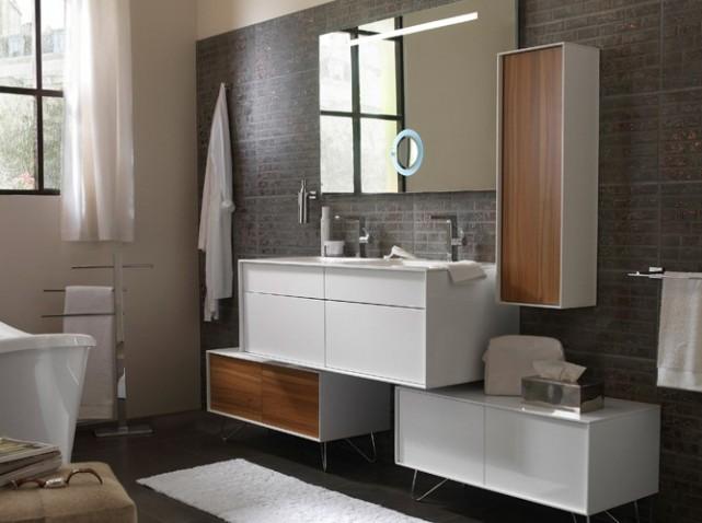 Meuble salle de bain japonais for Meuble bas japonais