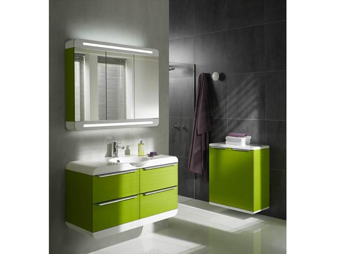 trouver meuble salle de bain vert anis