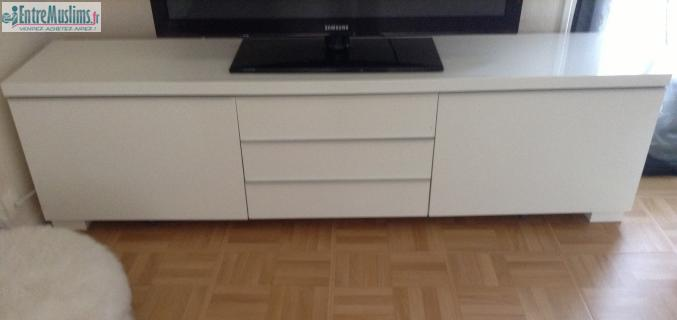 meuble tv bas blanc laque ikea. Black Bedroom Furniture Sets. Home Design Ideas