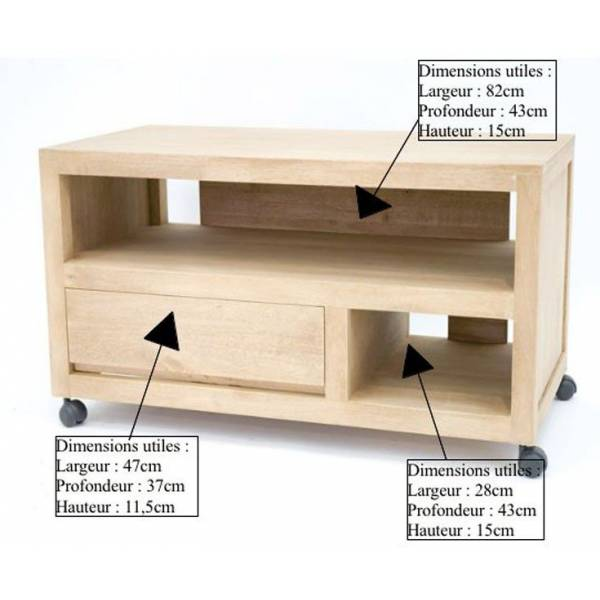 meuble tv bas sur roulettes -> Meuble Tv Design Sur Roulette