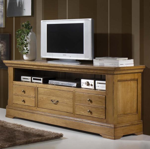 meuble tv haut chene. Black Bedroom Furniture Sets. Home Design Ideas