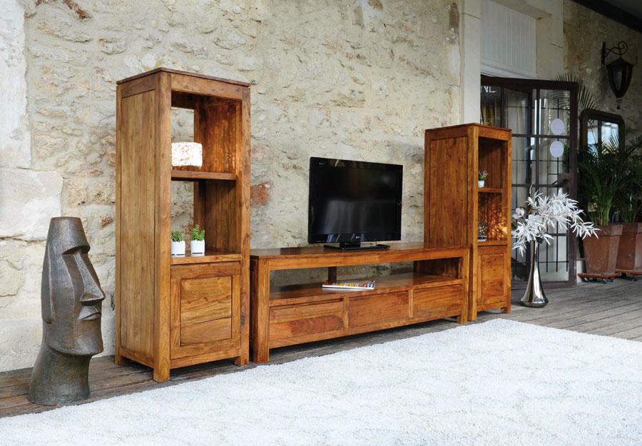 Photo meuble tv haut en bois for Meuble tv haut bois