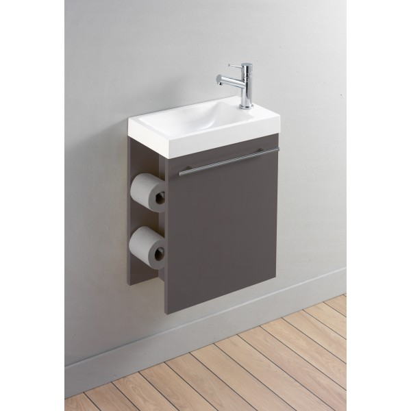 Meuble vasque toilette for Meuble mural toilette