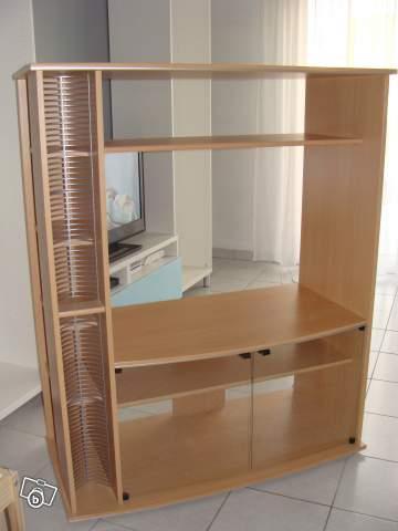 Rangement cd salon for Meuble tele avec rangement