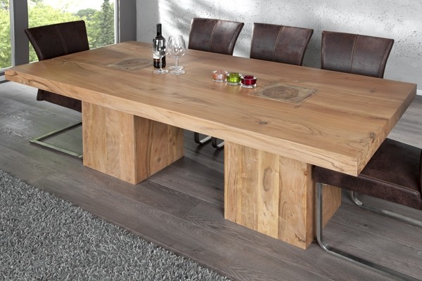 Table bois brut design for Table en bois salle a manger