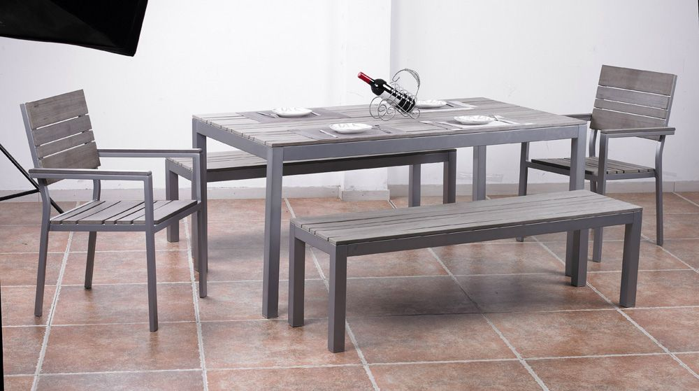 Emejing Table De Jardin En Bois Gris Images - House Design ...