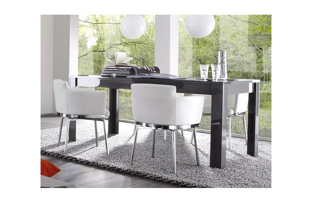 table salle a manger grise trendy salle a manger complete pas cher with table salle a manger. Black Bedroom Furniture Sets. Home Design Ideas