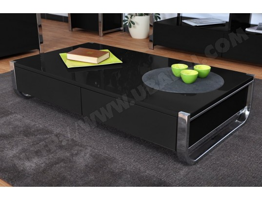 Table basse noire pas cher - Table basse up and down pas cher ...