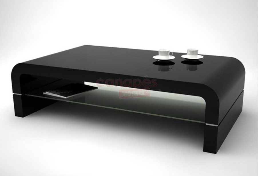 Table basse noire pas cher for Table basse salon design pas cher