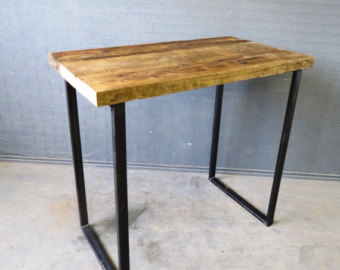 Table de bar bois et metal for Table bar haute bois