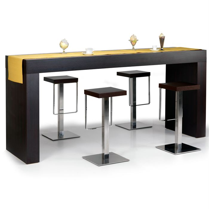 Table a manger de bar for Table rectangulaire de cuisine