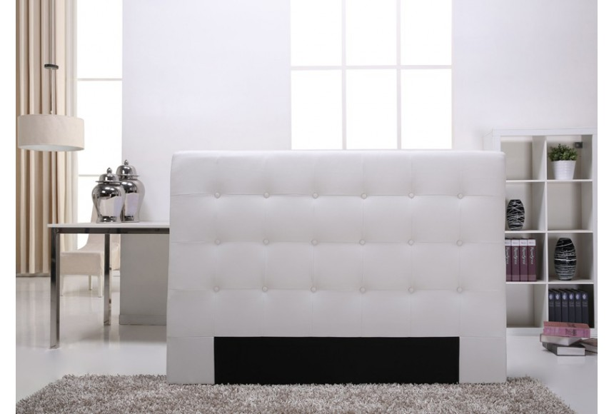 tete de lit capitonnee blanc. Black Bedroom Furniture Sets. Home Design Ideas
