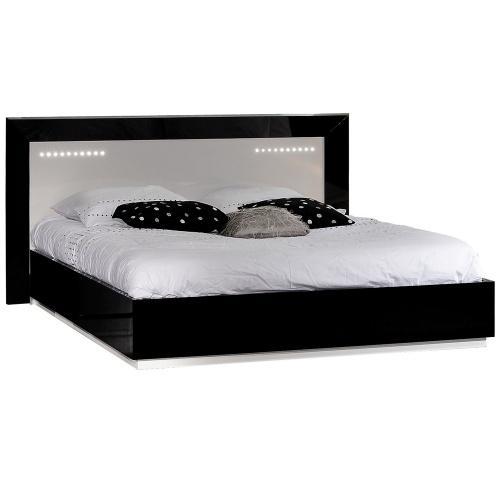 Tete de lit noir laque - Tete de lit noir 160 ...