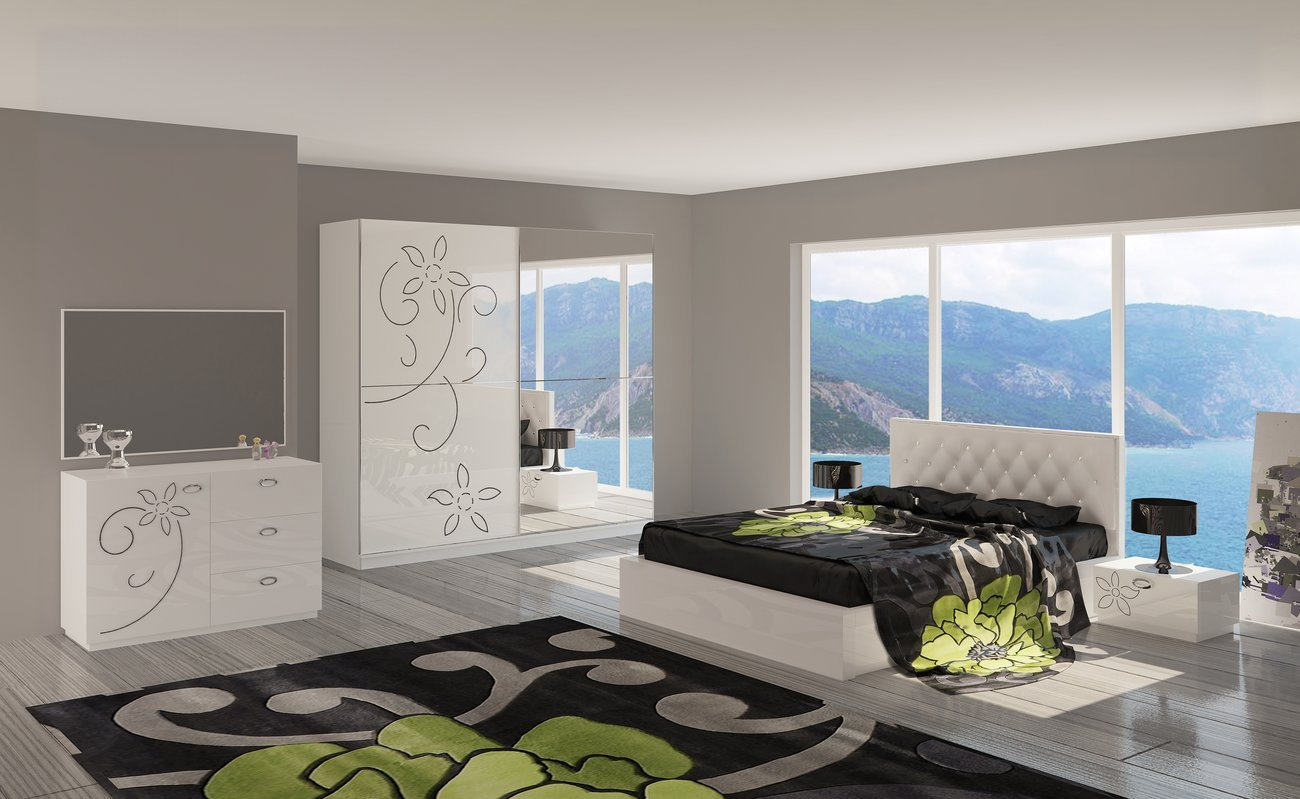 Meuble chambre adulte chambre moderne adulte blanche for Meubles chambre adulte moderne