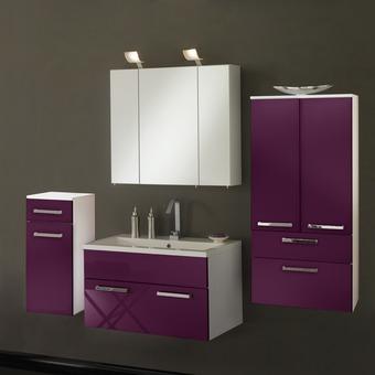 Armoire salle de bain violet - Salle de bain violet ...
