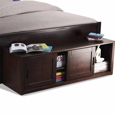 banc bout de lit wenge. Black Bedroom Furniture Sets. Home Design Ideas