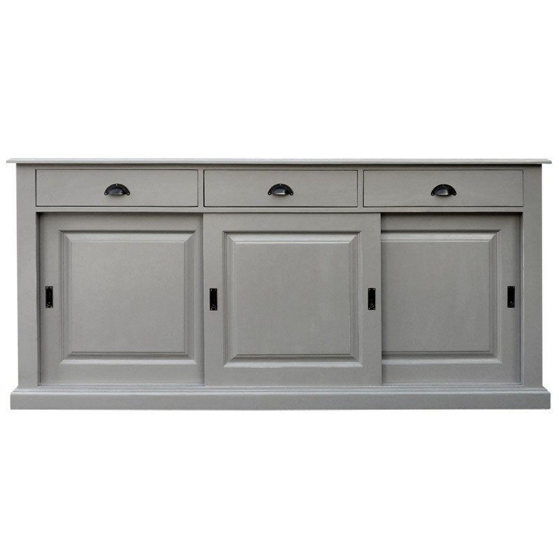buffet bas gris clair. Black Bedroom Furniture Sets. Home Design Ideas