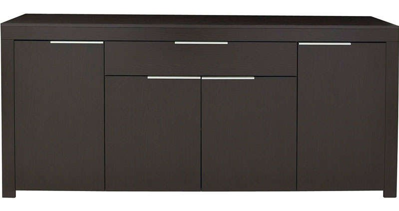 Buffet bas wenge conforama for Buffet bas tv