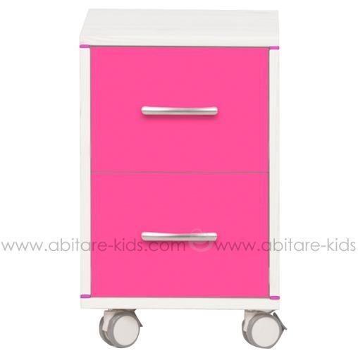 caisson de bureau rose
