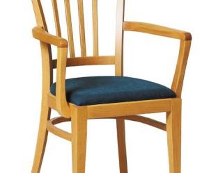 chaise de cuisine avec accoudoir