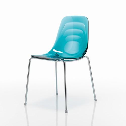 Chaise de cuisine turquoise for Housse de chaise turquoise