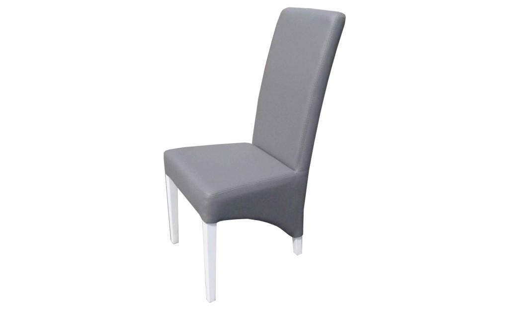 chaise de salle a manger grise et blanc