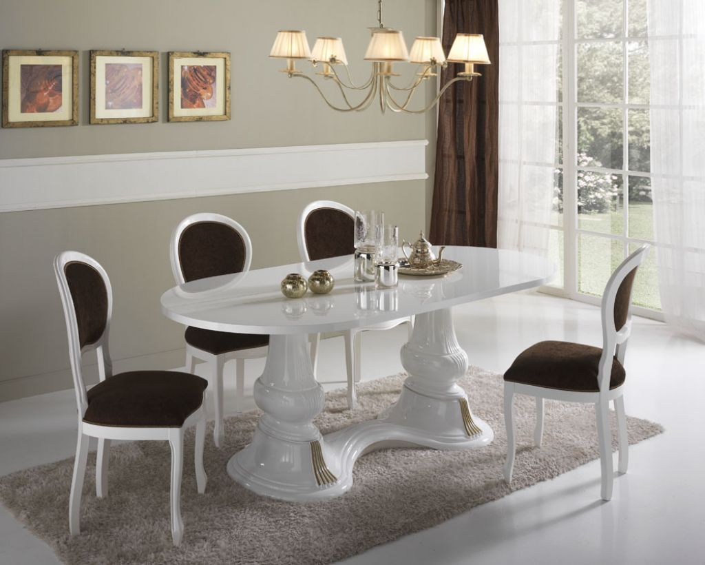 Table de salle manger design italienne - Table italienne en verre ...