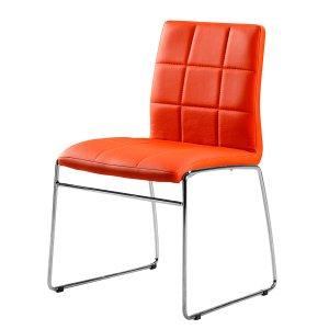 chaise de salle a manger orange