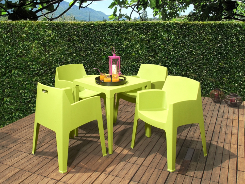 Chaise salle a manger jardin for Chaise jardin