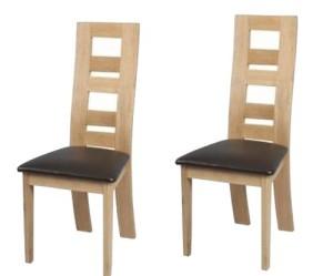 chaises de salle a manger en orme