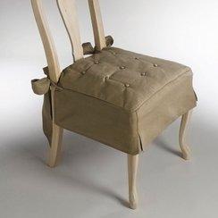 galette de chaise volantee pas cher. Black Bedroom Furniture Sets. Home Design Ideas