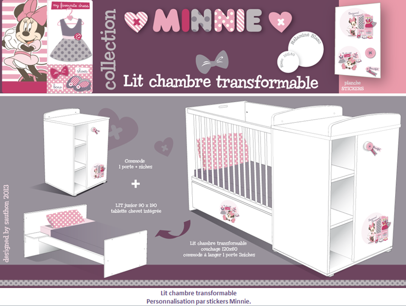 The gallery for minnie baby png for Decoration chambre minnie