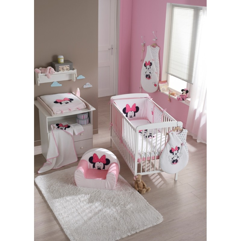 Lit bebe minnie for Meuble chambre bebe fille